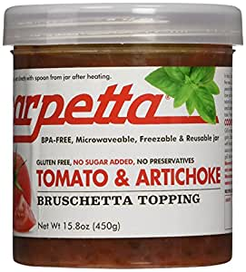 Scarpetta Tomato and Artichoke Bruschetta Topping, 15.8-Ounce Containers (Pack of 4)