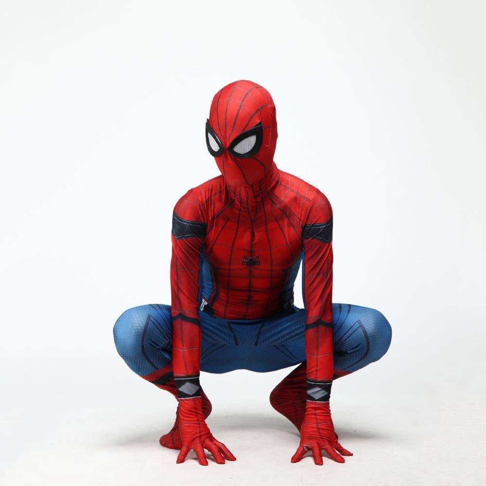 Adult petit KYOKIM Iron Spiderhomme Cosplay Costume HalFaibleeen Party 3D Imprimer Spandex DéguiseHommests Accessoires Adulte Enfant Costume,Adult-XXL