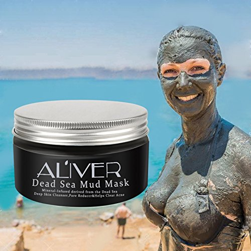 3 choices Dead Sea Mud Mask Deep Cleaning Black Mask Hydrating Acne Blemish Clearing Lightening Moisturizer Nourishing Pore Face Cleaner (Aliver-Black)