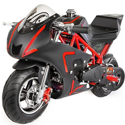 XtremepowerUS 40CC 4-Stroke Gas Power Mini Pocket Motorcycle Ride-on -
