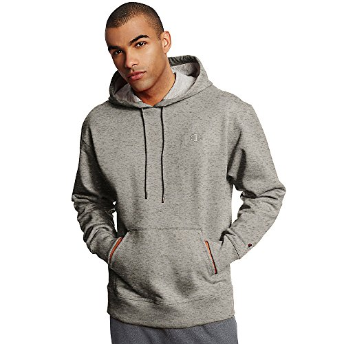 Champion Men's Powerblend Fleece Pullover Hoodie_Oxford Grey_L