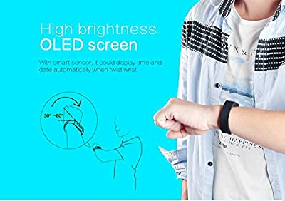 ipegtop Vidonn X6s Fitness Tracker,Touch Key Sleep Monitor Pedometer Smart Watch Band Activity Wristband with Oled Calling and Text Display Bluetooth V4.0 (blue)