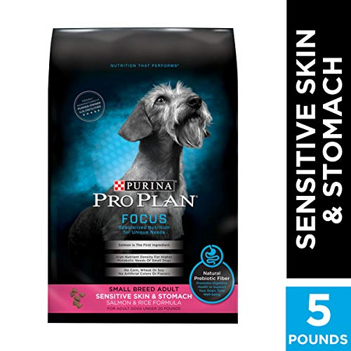Purina Pro Plan Sensitive Stomach Small Breed Dry Dog Food, FOCUS Sensitive Skin & Stomach Salmon - 5 lb. Bag (Puppy Food For Sensitive Stomachs Large Breed)