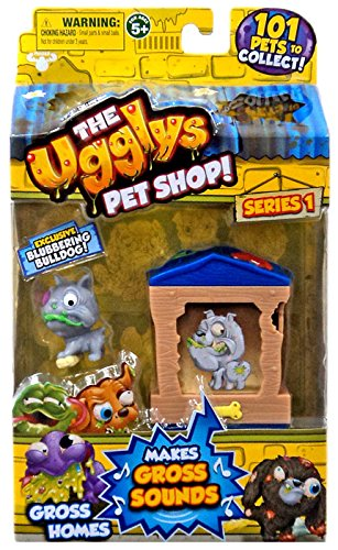 The Ugglys Pet Shop!, Series 1 Gross Homes, Mutt Hut with Exclusive Blubbering Bulldog