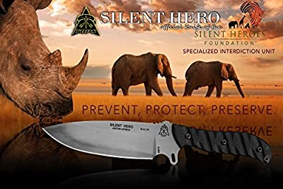 TOPS Silent Hero Knife Hunting Survival HERO-01 from Tops Knives