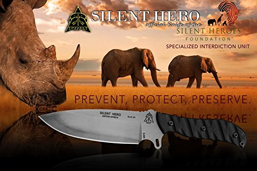 TOPS Silent Hero Knife Hunting Survival HERO-01