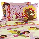 Dora The Explorer and Puppy Cotton Rich Twin Sheet Set
