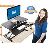 "Stand Steady FlexPro Hero Two Level Standing Desk - Easily Sit or Stand in Seconds! Large Work Space w/ Removable Extra Level for Keyboard & Mouse! (Regular (32""))"