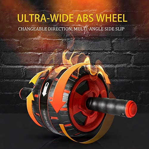 NANYNNU Ab Roller Wheel Abs Workout - Ab Roller Exercise Equipment,Ab Wheel Roller for Home Workout Equipment,Fitness Ab Roller for Core Workouts,Home Abdominal Exercise Equipment for Man and Women 8