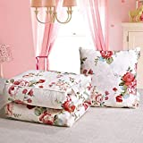 HOMEE Pure Cotton Pillow Quilt Dual-Use Cotton Cartoon on the Cushion is Summer by a Car Office Sofa Afternoon Nap Air-Conditioning is ,5050Cm, Music Cubs,The beautiful Garden,4040cm