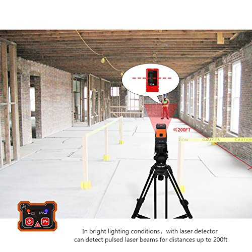Tacklife SC-L06 3-Point Alignment Laser Level Self Leveling with Horizontal/Vertical Line and Cross-Line -- Enhanced Strong Magnetic Base, Soft Carrying Pouch, Batteries Included by TACKLIFE (Image #5)