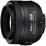 Nikon AF-S DX NIKKOR 35mm f/1.8G Lens with Auto Focus for Nikon DSLR Cameras, 2183, Black