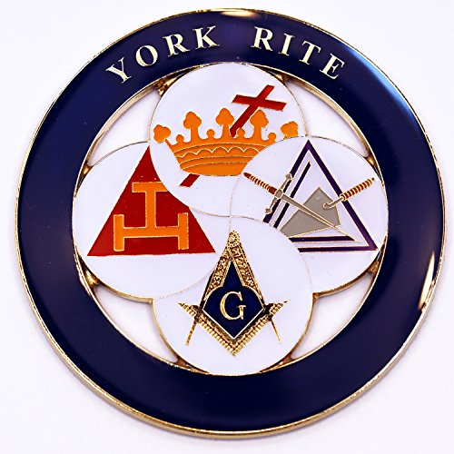 York Freemasonry Masonic Bumper Sticker product image