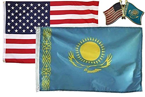 K's Novelties Wholesale Combo USA & Kazakhstan Country 2x3 2