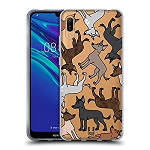 Head Case Designs Xoloitzcuintli Dog Breed Patterns 9 Soft Gel Case Compatible for Huawei Y6 Pro (2019) 7