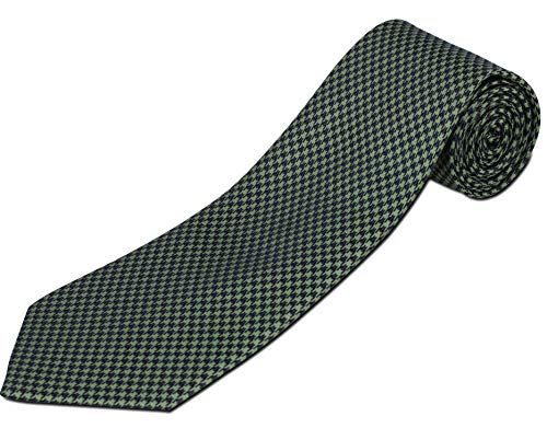 Extra Long Green and Navy Houndstooth Silk ()