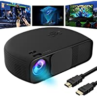 GOXMGO Video Projector 1080P HD LED Portable Movie Projector 3500 Lumens Projectors Support AV VGA USB HDMI Laptop PC TV Smartphone for Office Home Cinema Entertainment Games Party