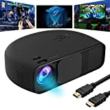 GOXMGO Video Projector 1080P HD LED Portable Movie Projectors Support AV VGA USB HDMI Laptop PC TV Smartphone for Office Home Cinema Entertainment Games Party