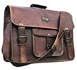 leather messenger bags for men women 18'' mens briefcase laptop bag best computer shoulder satchel school distressed bag