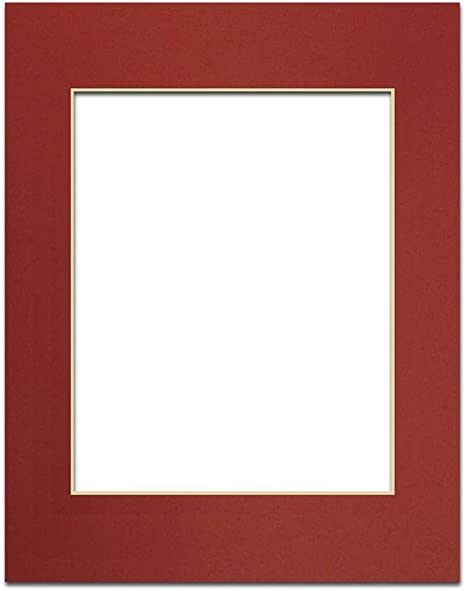 Single Mat 9 x 12 inches Frame for 6 x 9 inches Photo Art Size PA Framing Cream Core//Deep Red