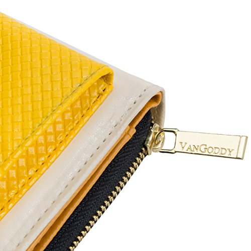 Envelope Clutch Cream/Yellow for HTC Phones by Vangoddy (Image #4)