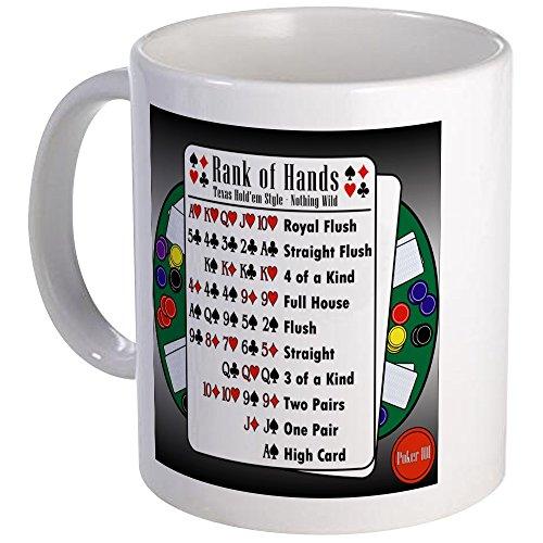 CafePress Poker 101 Texas Hold'em Rank Of Hands Mug Unique Coffee Mug, Coffee Cup