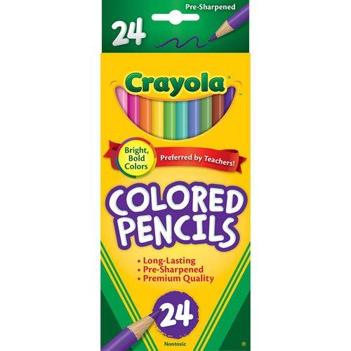 Binney & Smith Crayola(R) Colored Pencils, Set Of 24 Colors by Crayola