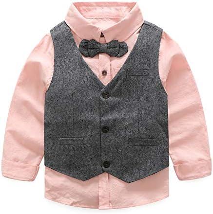 Toddler Little Infant Boys Dressy 3 Pieces Cotton Clothes Set
