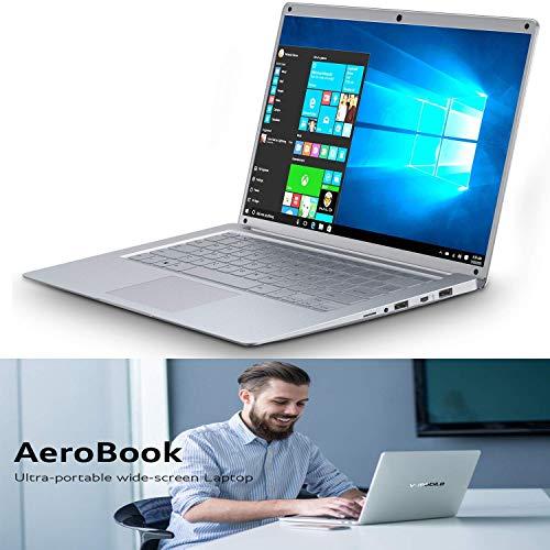 Laptop PCs Windows 10, 14.1 Inch FHD IPS Screen 1920x1080 Pixels 4 Core Intel Graphics Laptop Notebook 2GB RAM 32GB eMMC/500GB 8000mAh Battery WiFi:5.0GHz Bluetooth, HDMI, USB (Silver)