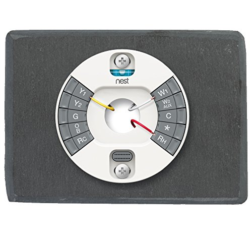 Koyal Wholesale Thermostat Trim Plate for Nest, Wall Plate (Rectangle 6'' x 4.33'', Slate Rock) by Koyal Wholesale (Image #3)