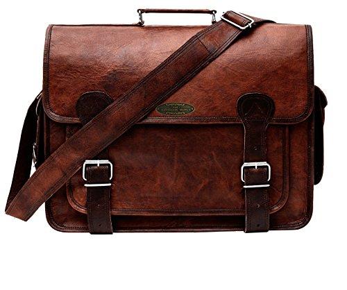 Handmade_World leather messenger bags for men women mens briefcase laptop bag best computer shoulder satchel school distressed unisex