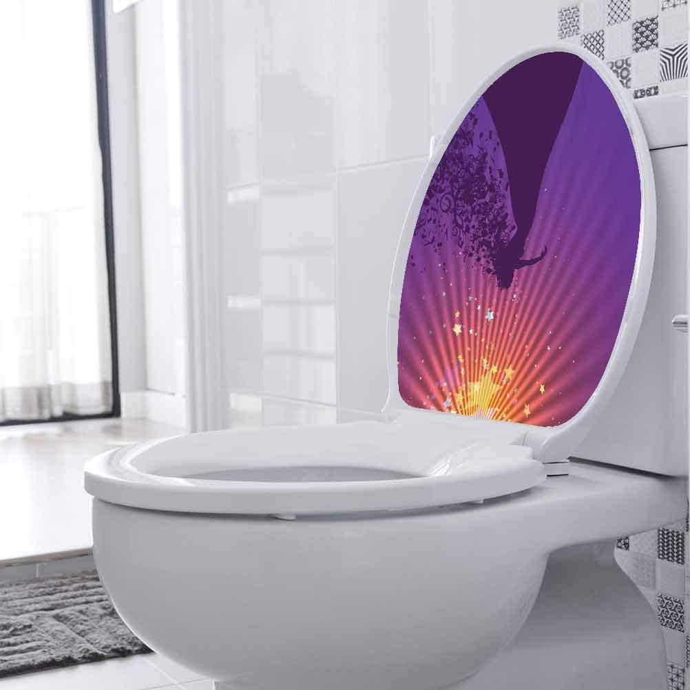 Toilet Decal Opera Singer Musical Notes Restroom Decor Art Decoration 8 x 11 Inch