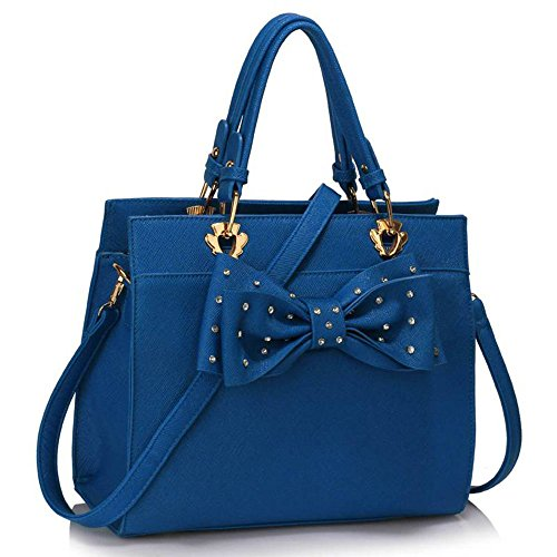 Cute Shoulder Bag Ladies Hotselling Shoulder Bag Trendy Tote Bag with Front Bow Tie