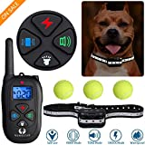 Dog Training Collar with Remote One-button Fast Switching Mode 2019 Upgraded Easy Operation Waterproof Rechargeable Beep Vibration Shock for Small Medium Large Reflective Tape Dogs Collar with Tennis For Sale