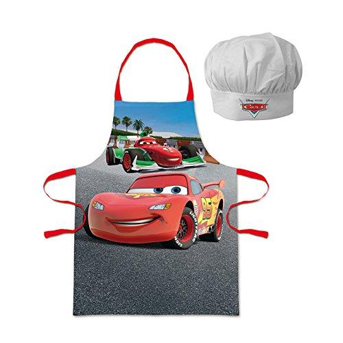 Walt Disney Cars (100825) Kinder Chefkoch-Set Kochschürze und Kochmütze, 2-teilig