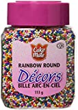 Cake Mate, Decorating with Ease, Decors Round Sprinkles, Rainbow, 113g