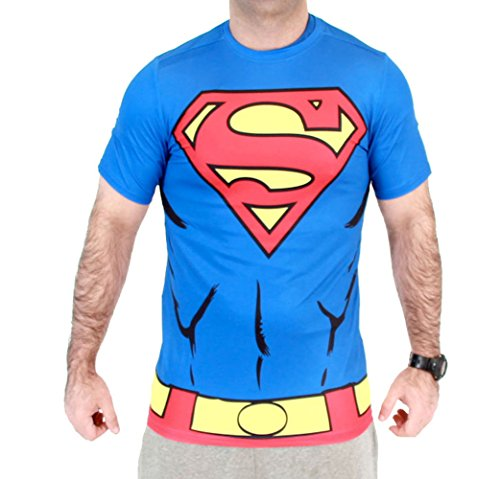 Superman Men's Performance Compression Athletic Costume T-Shirt (Adult (Superman T Shirt Costume)