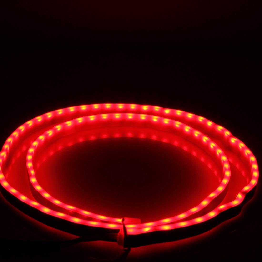 Gelbes Licht Blinkerlicht, 1,2 m Auto Auto Wasserdicht Universal Vierfarben R/ücklicht R/ücklicht mit R/ücklicht-Controller Wei/ßes Licht R/ückfahrlicht Rotes Licht Bremslicht Eisblaues Licht Fahrlicht