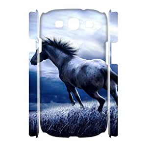 Horse Running Unique Design 3D Cover Case for Samsung Galaxy S3 I9300,custom cover case ygtg521960