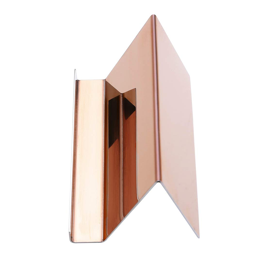 2 Pack Desktop Business Card Holder for Office Desk Name Card Display Rack Organizer Stainless Steel by WUYASTA (Image #9)
