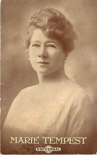 Theater Actor/Actress Old Vintage Antique Postcard Post Card, Postales, Postkaarten, Kartpostal, Cartes, Postkarte, Ansichtskarte Marie Tempest Universal 1918