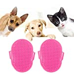 SUPOW-2PCs-Pet-Brush-Pet-Hair-Bath-Massage-Brush-Tool-Cleaning-Supplies-For-Dogs-Cats-Horses-Bunny-Rabbits-Rose-Red