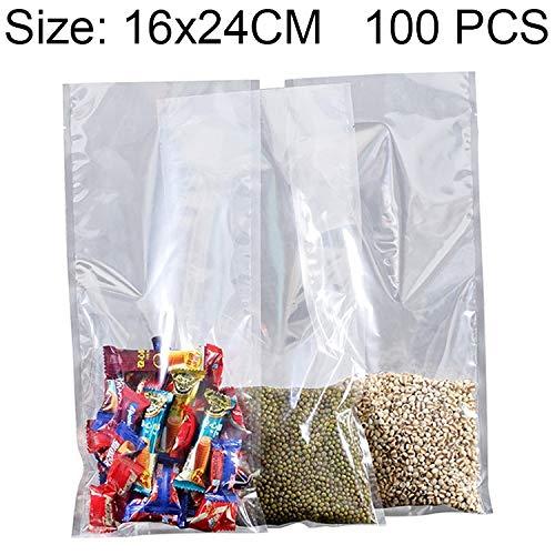 Praktisch 100 STÜCKE, Größe  16 cm x 24 cm Lebensmittel Vakuumverpackung Transparente Plastiktüte Nylon Frischhaltetasche B07P5XWMTZ Universal-Aufkleber Verkauf neuer Produkte