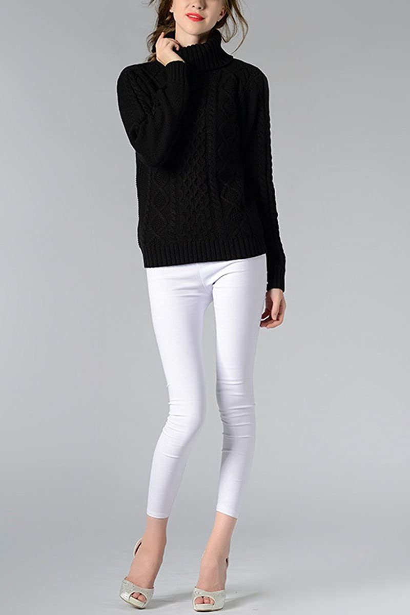 d8539f7b811d Sophieer Womens Sweaters Cable Knit Vintage Turtleneck Pullover Long Sleeve  Jumper S-XXL at Amazon Women s Clothing store
