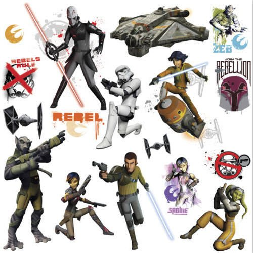 STAR WARS REBELS wall stickers 17 decals room decor GLOW IN DARK space - Outlet Ocean City
