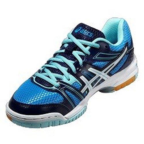 Asics Gel-Rocket 7 - Zapatillas de Voleibol para mujer Azul marino-Blanco-Azul