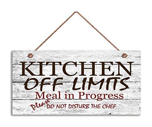 Cocina fuera de los límites signo, madera envejecido estilo ...