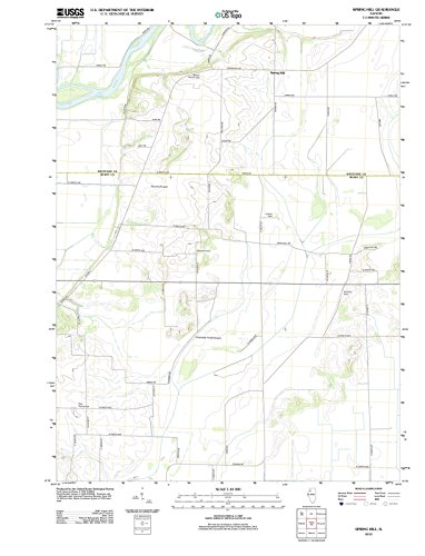 Illinois Maps | 2012 Spring Hill, IL USGS Historical Topographic Map |Fine Art Cartography Reproduction - Illinois Spring Hill