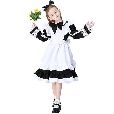 Disfraz de sirvienta para niña de Halloween, Paquete Familiar para ...