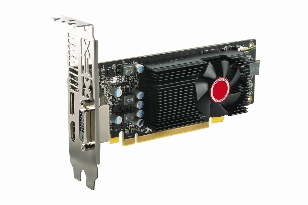 XFX RX 550 4GB DDR5 1203MHz Low Profile DVI DP HDMI RX-550P4LFG5